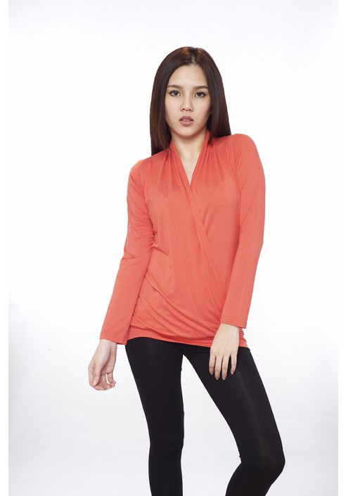 Honey&Bee V-neck Long Sleeves Blouse